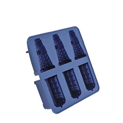 ZYCX123 Silikon-EIS-Würfel-Behälter Tardis & Daleks Moulds Praline-Plätzchen-Form-Hersteller DIY-Stab-Partei-Getränke-Backen-Werkzeuge