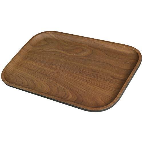 BIOZOYG Bio Bambus Serviertablett Melamin Servierplatte I 2 Stück Tablett Bambus rechteckig 30 x 20 cm I Umweltfreundliches Holztablett Kaffee-Tablett Küche Bambus-Tablett Tee-Tablett Snackteller