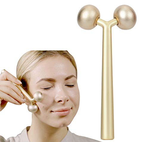 SUIBOBO Skincare Beauty Skin Gym Sculpting multifun Y 3D Lifting Cooling Metal Facial Face Roller Massager Tool To Contour And Reduce Puffiness