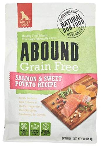 Abound Grain Free Natural Dry Dog Food Salmon & Sweet Potato Recipe, 4 lbs
