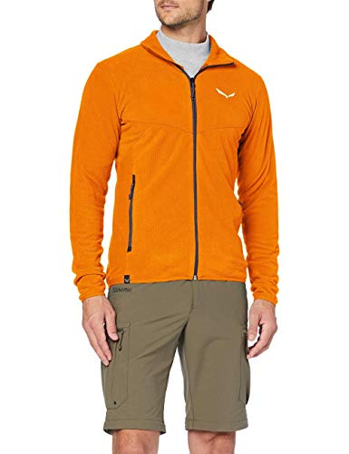 Salewa Herren Plose 5 PL M FZ Fleecejacken, Carrot, 52/XL