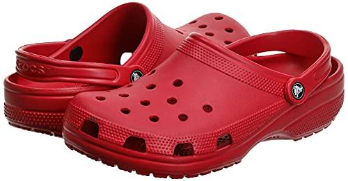 Crocs Classic Clog Unisex Adulta Zuecos, Rojo (Pepper), 39/40 EU