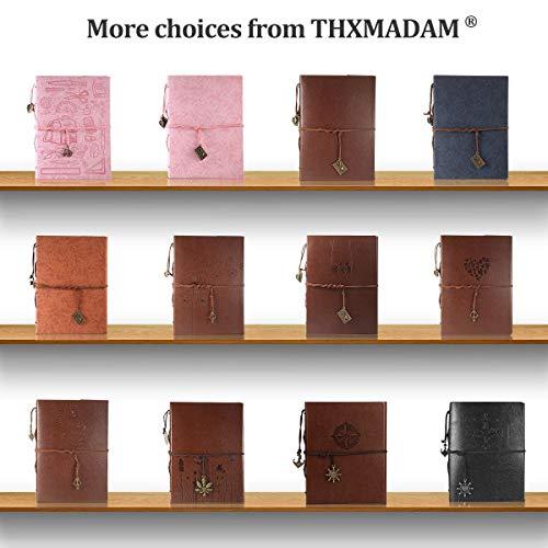 ThxMadam Fotoalbum zum Selbstgestalten,Scrapbook Album zum einkleben,Foto Buch,Vintage Gästebuch Geschenk für Weihnachten Hochzeit Jahrestag Valentinstag Geburtstag Muttertag - 8