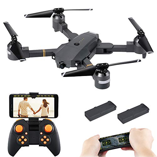 Goolsky Attop XT-1 WiFi 2.4G 6-Axis Gyro FPV 2.0MP Camera 3D Flip Altitude Hold Foldable RC Quadcopter w/ Two Batteries
