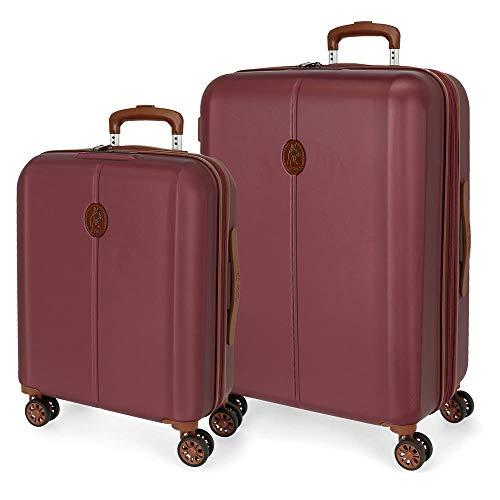 El Potro Ocuri Juego de Maletas Rojo 55/70 cms Rígida ABS Cierre TSA 118L 4 Ruedas Dobles Equipaje de Mano