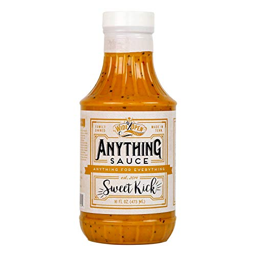 Wide Open Foods Anything Sauce - All Natural Flavorful Cooking For Home & Kitchen Use (Sweet Kick Mustard, 1 Pack)