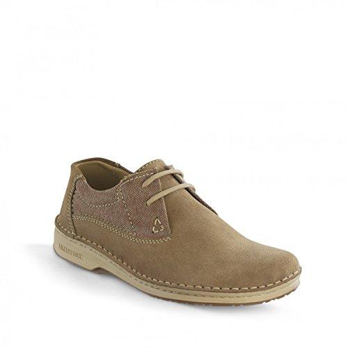 Birkenstock Schuhe ''Memphis'' in beige aus Leder/Textil in Größe 44.0 R EU mit breitem/normalem Fussbett Artikel-Nr. 406651