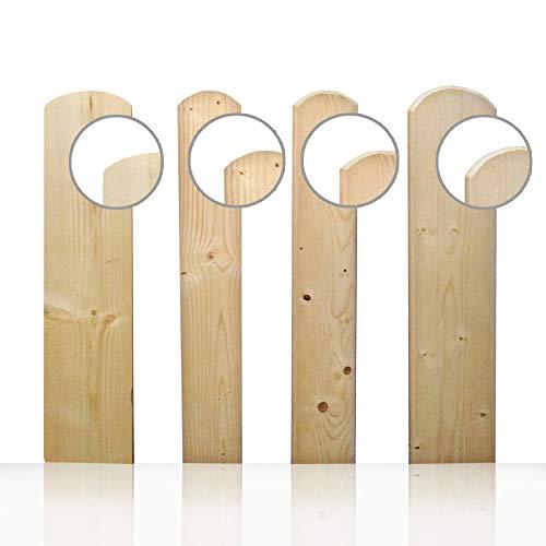 Zaunlatten Holz Zaunbretter Stakette Latte 110x9x2 cm- Pakett 25 stk.