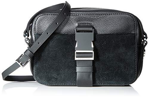 Liebeskind Berlin Sporty Satchel Suede Crossboy Small, Women's Cross-Body Bag, Black, 8x19x16 cm (W x H L)