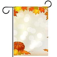 ホームガーデンフラッグ両面春夏庭の屋外装飾 12x18in,秋のカボチャの休日