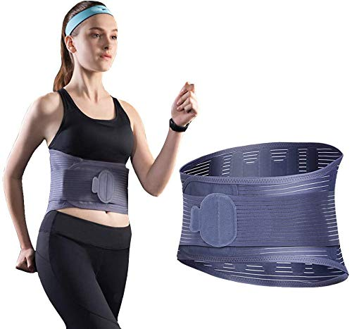 ZJY Waist Trimmer Accelerates Weight Loss, Fat Burning, Back Support, Neoprene Sauna Slimming Belt, Best Abdominal Trainer for Men & Women Running and Workout