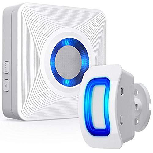 wscmd Sensor de Movimiento inalámbrico Detect Alert Alarm Chime Timbre de Seguridad para Home Garage Shop Store - 1 Detector de Movimiento 1 Receptor de complemento