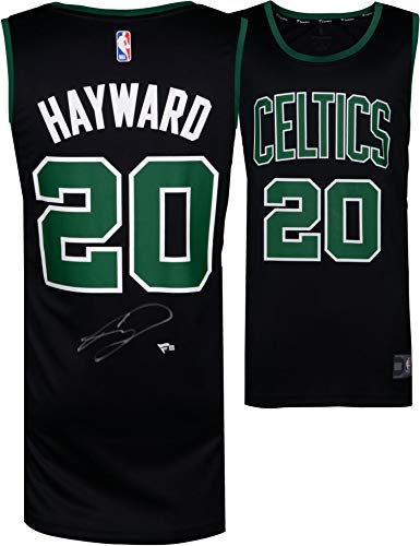 Gordon Hayward Boston Celtics Autographed Fanatics Black Fastbreak Jersey - Autographed NBA Jerseys