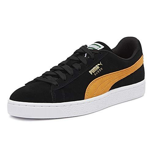Puma Unisex-Erwachsene Suede Classic Sneaker, Schwarz Black-Orange Pop, 37 EU