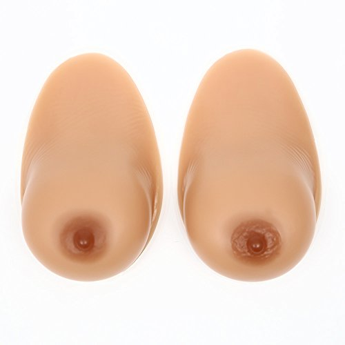 SMILINGGIRL Silikon Brustformen Lebensechte Falsche Brüste Brustprothesen Crossdresser Cosplay Transgender Prothese Mastektomie Gefälschte Brüste,Selfadhesive,1200g/pair