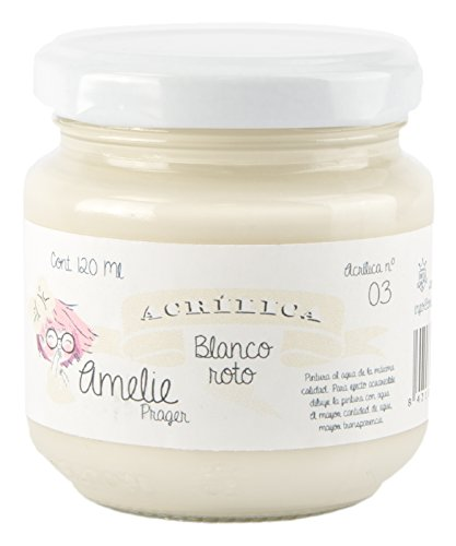 Amelie Prager AM120-03 Pintura Acrílica, Blanco Roto, 120 ml