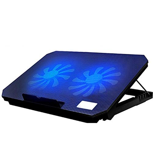 Base De Refrigeración para Portátil De 15.3 Pulgadas,se Pueden Ajustar Varias Alturas,diseño De Malla Metálica,diseño De Interfaz USB Dual,Enfriador De Notebook