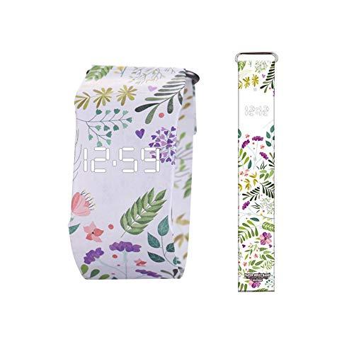 True-Ying Papieruhr, kreativ, modisch, intelligent, elektronisch, wasserdicht, für Dupont-Papieruhr für Damen und Herren
