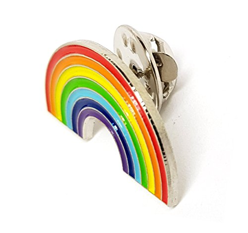 Anstecknadel mit Motiv: LGBT Regenbogen, aus Metall, hochwertig, für Kleidung, Rucksack, Mützen.