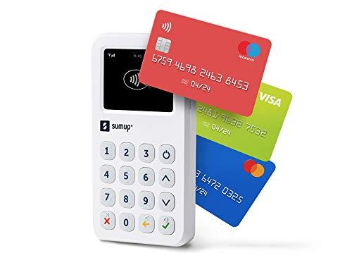 SumUp 3G + WLAN Kartenterminal, eingebaute SIM-Karte, weiß