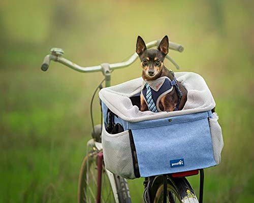 Pecute Pet Carrier Bicycle Basket Bag