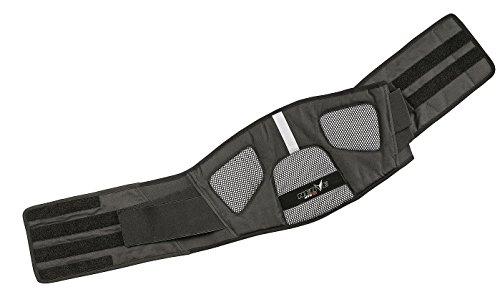 Nerve Dynamic Cinturón de Soporte Lumbar para Moto, Negro, S