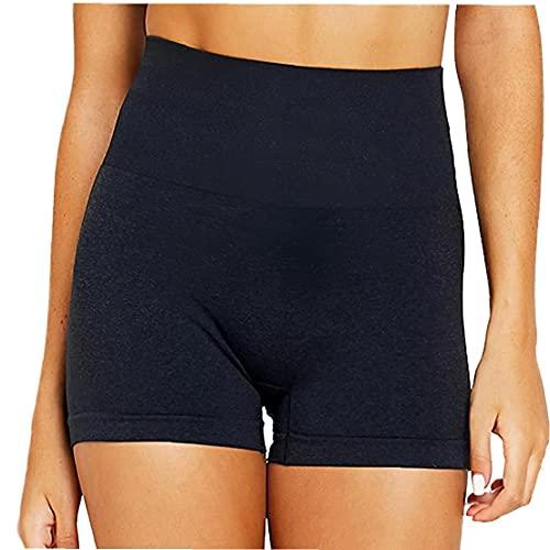 VusiElag Butt Scrunch Yoga Shorts für Frauen mit hohen Taille und Workout Gym Shorts Booty Spandex Gymnastik-Trainings-Shorts mit Taschen-Hosen Rosa XL