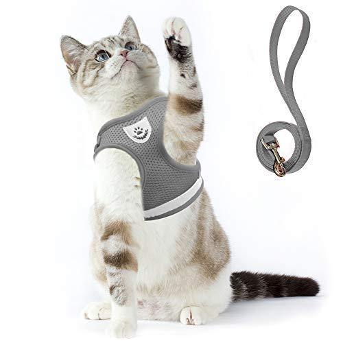 Supet Katzengeschirr Geschirr für Katzen Welpengeschirr Weich Kaninchengarnitur Katzen Weste mit Leine für Kitten Hunde Chihuahua