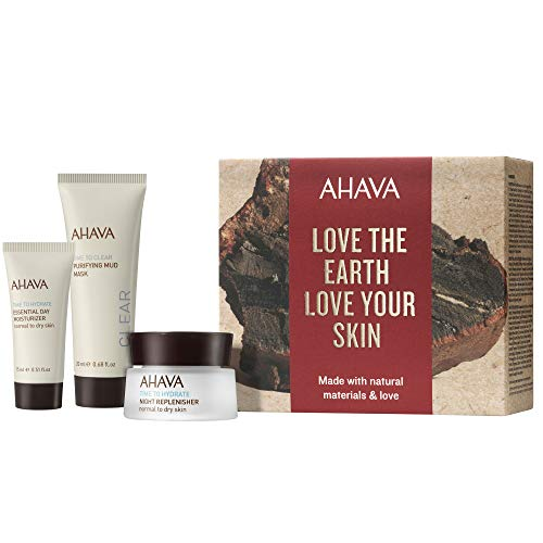 AHAVA Time To Clear Geschenkset Naturally Replenished (Nachtcreme,15mlTagescreme,15ml+Maske,20ml)