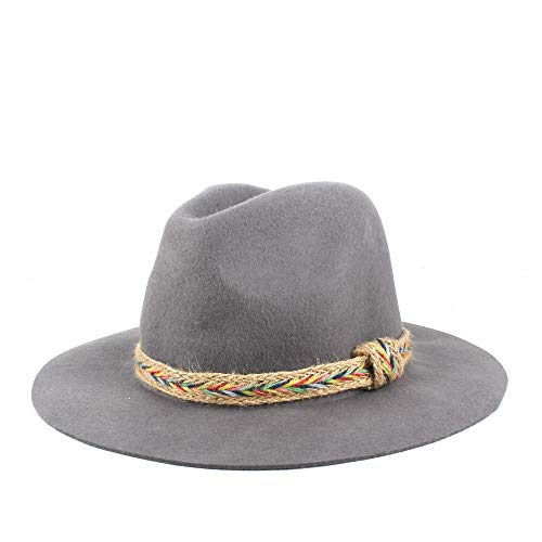XYAL-Hats Xingyue Aile Top hoeden & cowboy-mutsen, Weit Eaves Lady wol polyester Fedora-hoed, herfst winter Jazz Male vilten hoed, kerk Godfather Hat