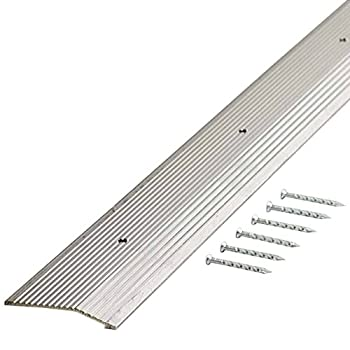 M-D Building Products 78071 Fluted 1-3/8-Inch by 36-Inch Carpet Trim Silver