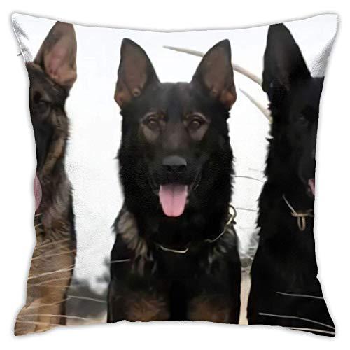 Funda de cojín Throw Cojín Throw Pillow Case Cachorros pastor aleman Funda de Almohada 45X45CM
