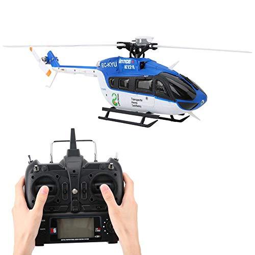 RC Helikopter, Gyro und 3D / 6G Modus 6 Kanal Sensitive Mini Helikopter Fernbedienung 1106 11000KV Brushless Motor Micro Electric RC Flugzeug Fahrzeug Spielzeug für Kinder Erwachsene Indoor Outdoor