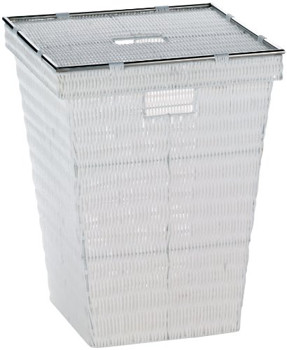 KELA 21083, Wäschekorb, 53 cm, PP-Kunststoff, Noblesse, Weiß