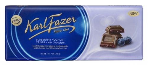 Karl Fazer Milchschokolade Blaubeer-Joghurt Crisp, 190g, Sonderpreis MHD erreicht!!!!