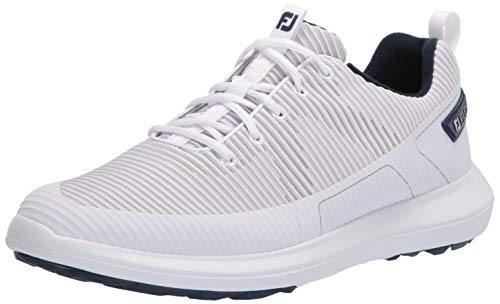 FootJoy mens Fj Flex Xp Golf Shoes, White, 10.5 Wide US