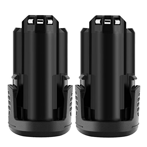 Shentec 2 Pack 12V 3.0Ah Replacement Battery Compatible with Dremel B812-01 B812-02 B812-03, Works with Dremel 8200 8220 8300 Dremel 12V Rotary Oscillating Power Tools