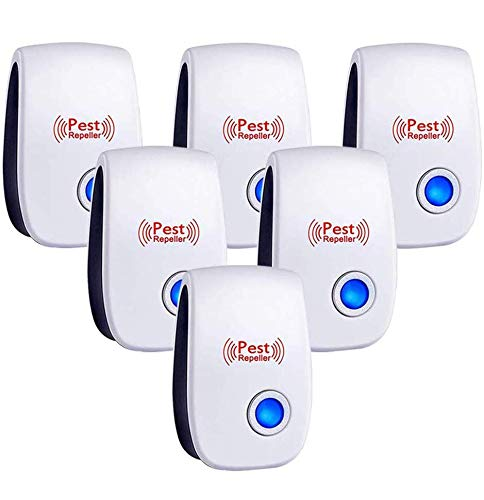 Falatier Ultrasonic Pest Repeller 6 Pack,Power 5-6W,Pest Control for Insects, Mosquito, Mouse, Cockroaches, Rats, Bug, Spider, Ant, Human and Pet Safe,White