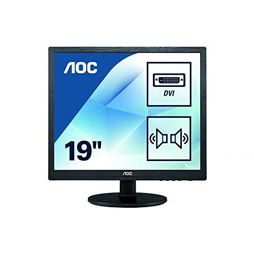 AOC E960SRDA 48,3 cm (19 Zoll) Monitor (VGA, DVI, 1280 x 1024, 60 Hz) schwarz