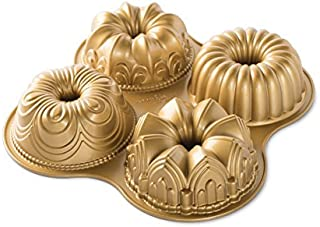 Nordic Ware 91377 Bundt Quartet Pan, quotL x 12.38&quotW x 2.47&Quoth, Gold