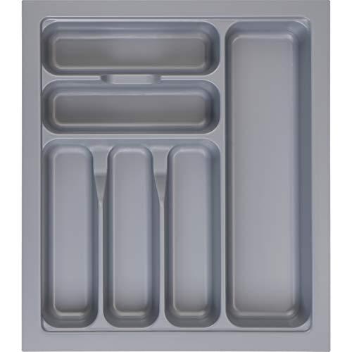 MUHOO Besteckkasten für Schubladen 45er Besteckeinsatz Schubladeneinsatz Küche 367 x 474 mm