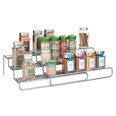 Extendable Spices and Herbs Organizer Set for Kitchen Cupboard