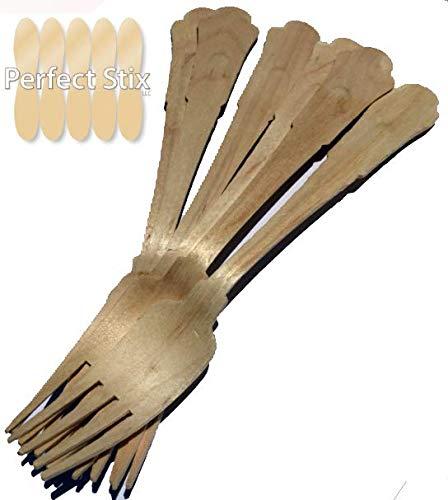 Perfect Stix Vert Fourchette 200–100 CT Perfectware en bois Couverts fourchettes, 19,7 cm (lot de 100)