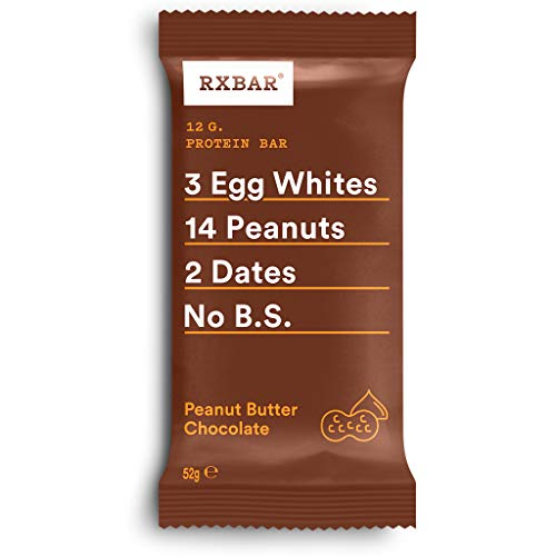 RXBAR, Protein Bar, Peanut Butter Chocolate, Gluten Free, 12-Pack, Made in the UK