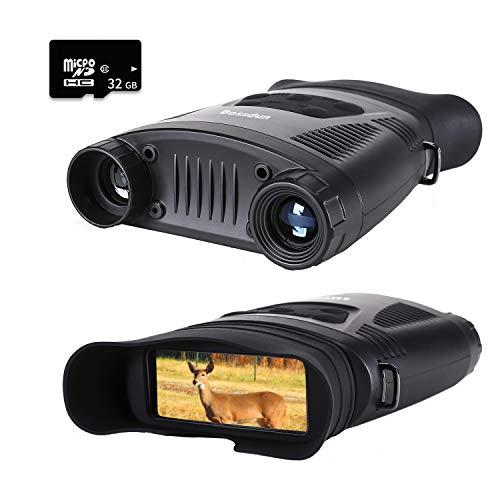Prismáticos de Visión Nocturna, HD Digital Infrarrojo Caza Binoculares con Tarjeta de Memoria 32G, Grabadora de Video y Tomar Foto