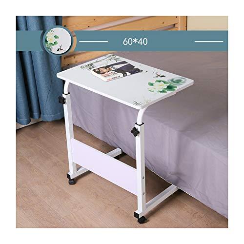 DZWLYX Sofa Tisch Beistelltisch Notebooktisch,Pflegetisch, Laptoptisch Höhenverstellbar PC-Tisch Mit Rollen (Color : Landscape Water 60x40cm)