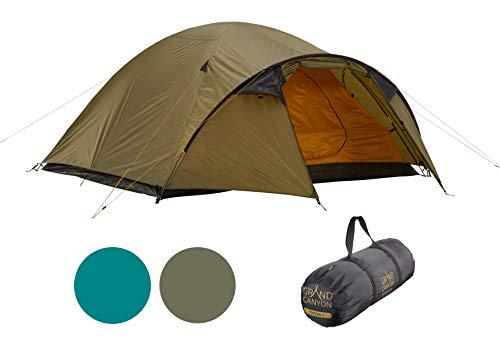 Grand Canyon TOPEKA 4 - Tente dôme pour 4 personnes | ultra-légère, étanche, petit format | tente pour le trekking, le camping, l'extérieur | Capulet Olive (Vert)