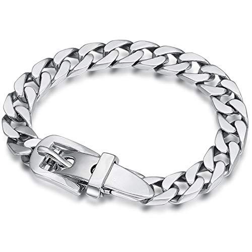 Dxnbp Pulsera Hombre Plata 925 Moda Vintage para Hombres Mujeres Bracelet Joyas De Personalidad con Caja De Regalo