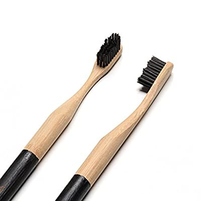 Goodwell Bamboo Plus Binchotan Toothbrush, 6 x 0.5-Inch (Pack of 3)