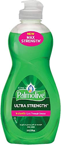 PALMOLIVE Dishwashing Liquid, Dish Soap, Dish Liquid Soap, Phosphate Free, pH Balanced, Dishwasher Cleaner, 10 Ounce Bottle (Case of 16) (US04267A)